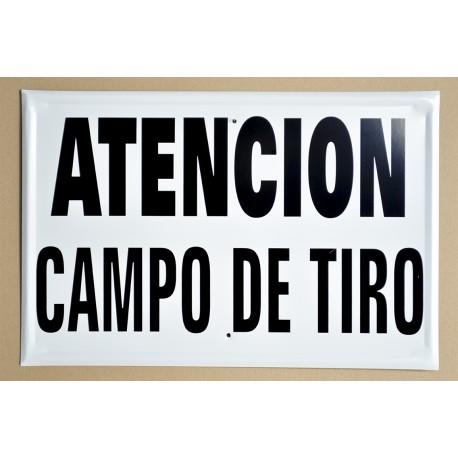 ATENCIÓN. CAMPO DE TIRO
