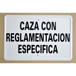 CAZA CON REGLAMENTACIÓN ESPECÍFICA