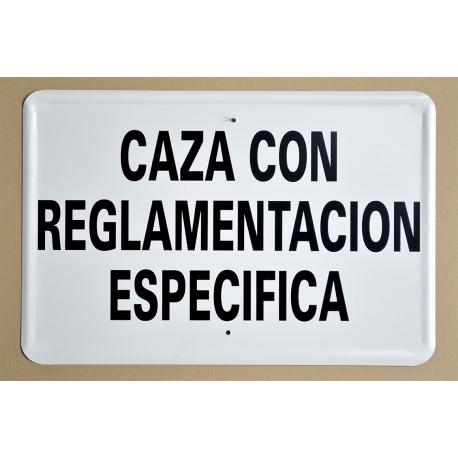 CAZA CON REGLAMENTACIÓN ESPECIFÍCA