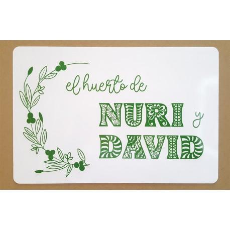 El huerto de NURI y DAVID
